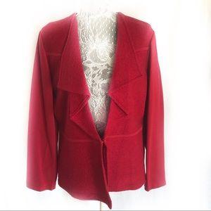 Chico's waterfall drape blazer jacket sweater 2